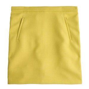 NWT - J.Crew Factory Zip Pocket Wool Mini Skirt